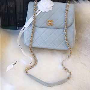 Chanel Suede Vintage Bag with GHW